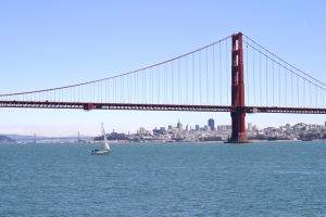 Sailing Out of the Golden Gate Bridge
